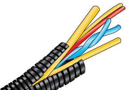 Cable Accessories Convoluted Tubing Polyethylene Black - 30.48m (100ft-A)/Spool (492250-BK005-A)