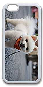 iPhone 6 Cases, Personalized Protective Case for New iPhone 6 Soft TPU White Edge Dog