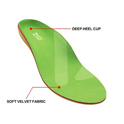 Orthotic Shoe Insoles with Arch Support, Shock-Absorbing Cushioning Inserts for Plantar Fasciitis, Flat Feet, Foot Pain Relief, for Women and Men, M