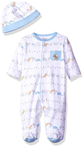 1318b18f5 Little Me Baby Fun Footie with Hat, Safari, 3 Months - Import It All