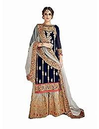 Delisa Pakistani Ethnic wear Georgette with Heavy Work Plaazo Salwar Kameez