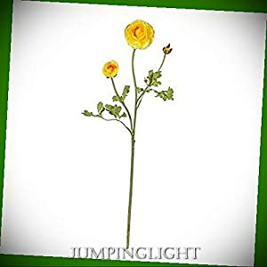 JumpingLight 23'' Ranunculus Stem (Set of 12) Artificial Flowers Wedding Party Centerpieces Arrangements Bouquets Supplies 8