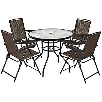 Amazon.com: giantex Patio Jardín Set de muebles con mesa de ...
