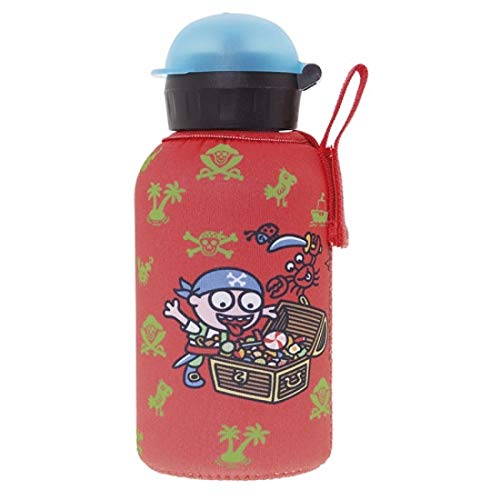 Laken Thermo Hit Kids Insulated Water Bottle 12oz Sport Cap with Neoprene Cover Katuki Saguyaki Piratikis
