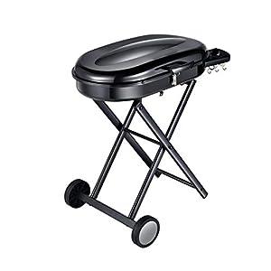 Barbecue a Carbone carbonella per Esterni Portatile a carbonella Spessa Auto Senza Fumo (Color : Black, Size : 82 * 48 * 86.5cm) 12 spesavip