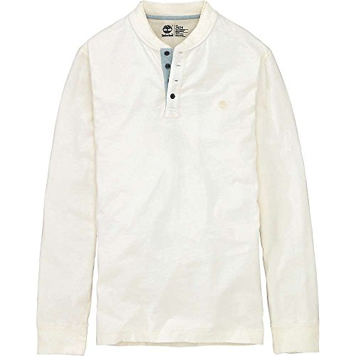 Timberland Ashuelot River Cotton/Linen LS Henley - Mens Antique White
