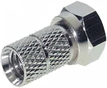 5 conectores F para cable coaxial de 6 mm, 6,8 mm, 7 mm, 7,5