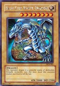 Yu-Gi-Oh! - Blue-Eyes White Dragon (PCK-001) - Power of Chaos Kaiba the Revenge PC Promo - Promo Edition - Secret Rare - Chaos Secret Rare Card