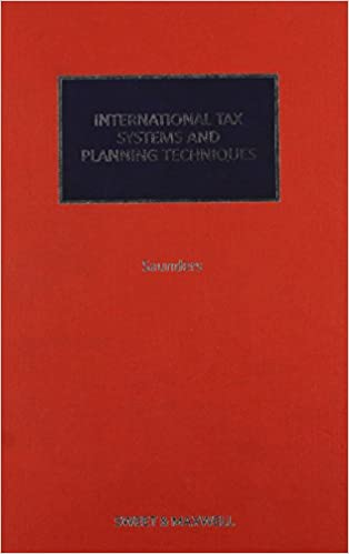 Book International Tax Systems and Planning Techniques 2010