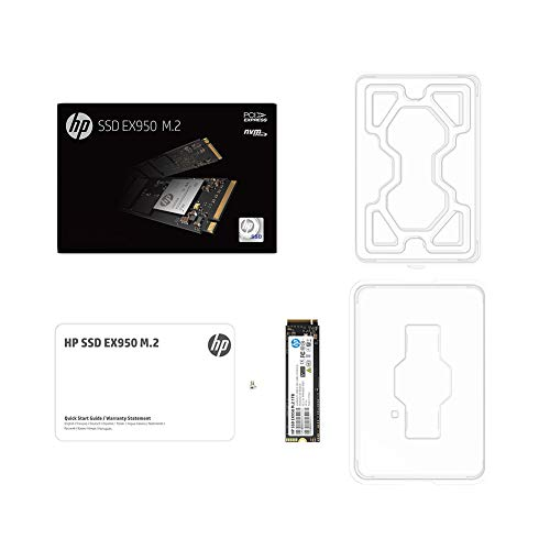 HP EX950 M.2 1TB PCIe 3.1 x4 NVMe 3D TLC NAND Internal Solid State Drive (SSD) 5MS23AA#ABC