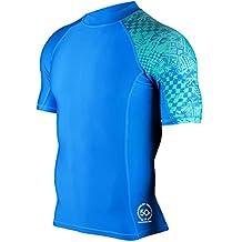 MADHERO Men's Splice UV Sun Protection Short/ Long Sleeve Skins Rash Guard