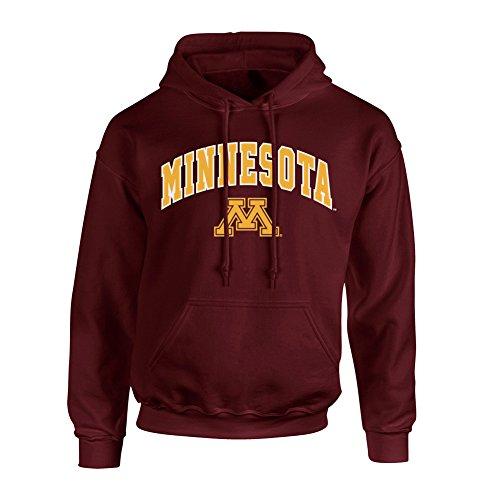Elite Fan Shop Minnesota Golden Gophers Hooded Sweatshirt Arch Maroon - L