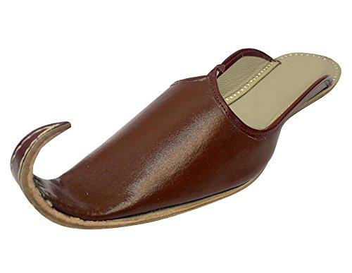 Stap N Stijl Heren Handgemaakte Lederen Jutti Mojari-slippers Punjabi Aladdin Khussa