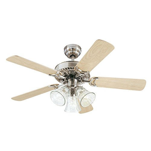 Westinghouse Lighting 7843565 Newtown 42 Inch Ceiling Fan, Brushed Nickel Finish