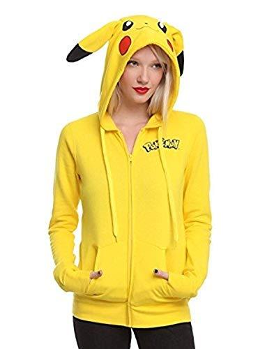 Miracle(Tm) Pokemon Girls' Pikachu Costume Hoodie - Pokemon Hoodie (X-Small) ()