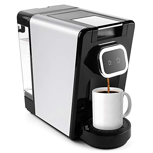 CHULUX Single Pod Coffee Brewer Maker for Capsule or Ground Coffee,27 Ounce Detechable Water Tank,1150Watts,Upgrade