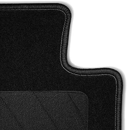 Bär Afc Vw04449 Classic Auto Fußmatten Nadelvlies Schwarz Rand Kettelung Schwarz Textiler Trittschutz Set 4 Teilig Passgenau Für Modell Siehe Details Auto