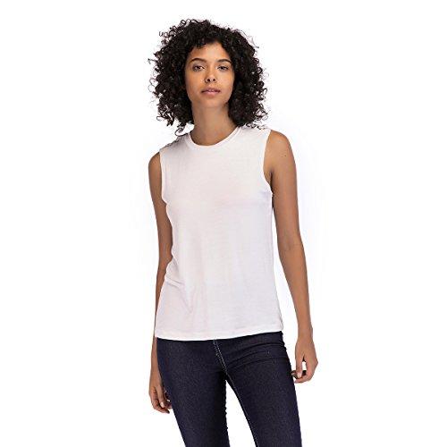 Mei&s Maglietta Aderente da Donna T-Shirt Intima da Donna White