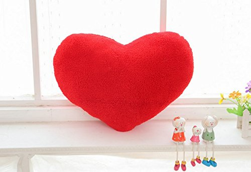 Stuffed Short Plush Shaped Heart-shaped Large Pillow Cushions Nap Doll Home Essential (3042cm, Red)