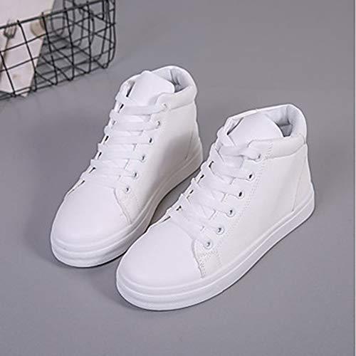 5 Piatto CN35 Donna PU EU36 Per TTSHOES Comoda Sneakers US5 White Autunno 5 Poliuretano Blu Rosa Scarpe UK3 Bianco 8656pxUq