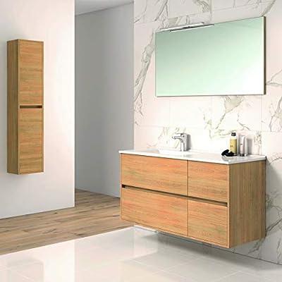 Conjunto TUELA, Mueble de lavabo 120cm, espejo, aplique led y ...