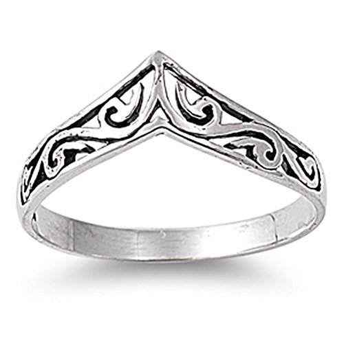 (Sterling Silver Women's Celtic Design Cute Ring Promise 925 Band 8mm Size 9 )