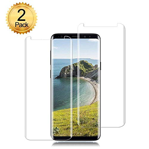 [2pack] for Samsung Galaxy S9 Tempered Glass Screen Protector, Eastoan S9 Screen Protectors [9H Hardness] [Super Clear] [ No Foam ][NO Scratch] Compatible Samsung Galaxy S9 Clear by Eastoan