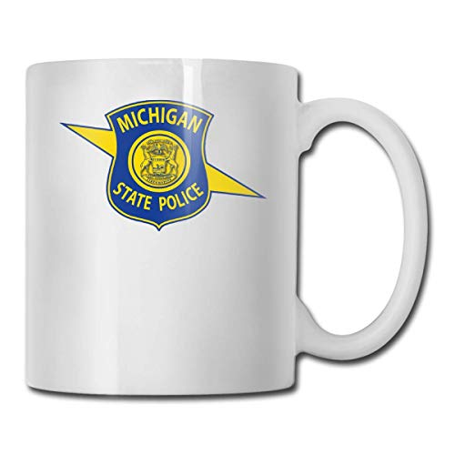 Michigan State Police Logo Funny Coffee Mug Cool Coffee Tea Cup 11 Ounces Perfect Gift for Family and ()