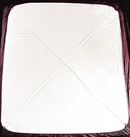 Tirantes Ajustables Para Sujetar Sábana (2 Unidades, Tipo A, Color Blanco): Amazon.es: Hogar