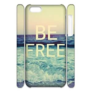 Be Free Customized 3D Cover Case for Iphone 5C,custom phone case ygtg581568