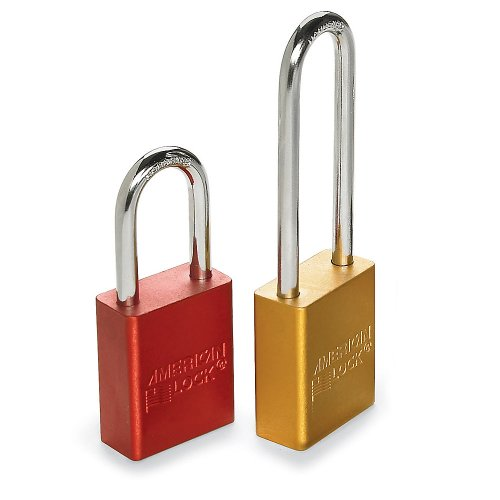 American Lock Red Padlock - American Lock Color-Coded Padlocks - Keyed-Different - 1-1/2