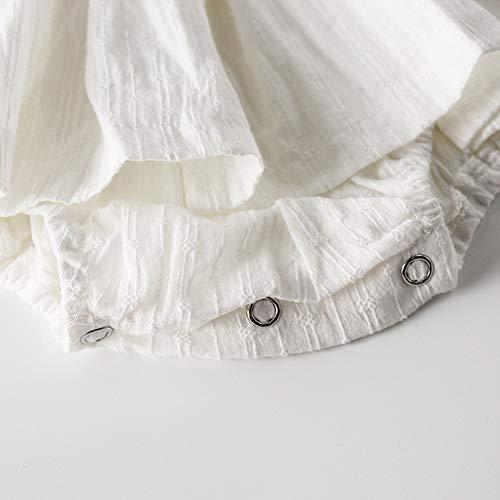 492a6e5d54451 ZooArts ベビー服 ロンパース 女の子 春夏 新生児服 袖なし 無地 飛び袖 ホワイト カバーオール ボディー