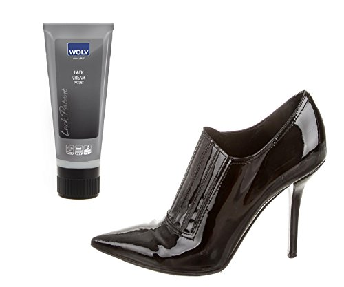 Woly Black Patent Leather Dye And Cleaner Lack Cream That