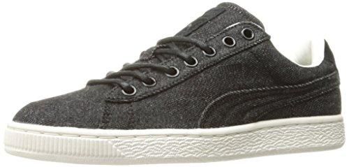 Cestino classico denim moda Sneaker, Puma Black-Whisper W, 10 M Stati Uniti