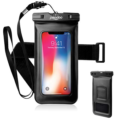 (Floating Waterproof Phone Pouch, Universal IPX8 Underwater for Cell Phone,up to 6 inch (Black))