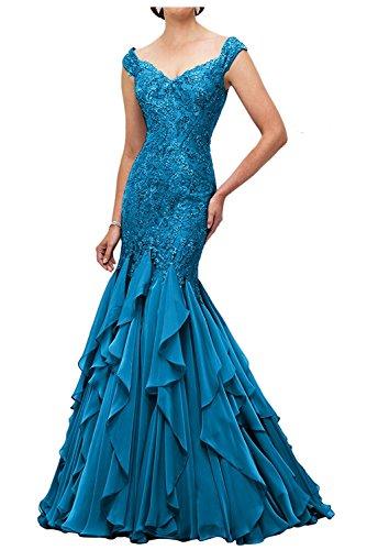 Spitze Lawender Meerjungfrau Dunkel La Brautmutterkleider Etuikleider Abendkleider mia Ballkleider Blau Abschlussballkleider Braut Lang qtzPzI