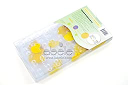 ABELE (R) Duck Baby Kids Safety Tub Shower Non Slip Bath Mat, Skid Proof and Anti Bacterial, Mildew Mold Resistant Bathtub Mat, Vinyl (Yellow Duck)