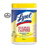 Lysol Disinfecting Wipes - Lemon & Lime Blossom Scent, 110 ct (Pack of 6)