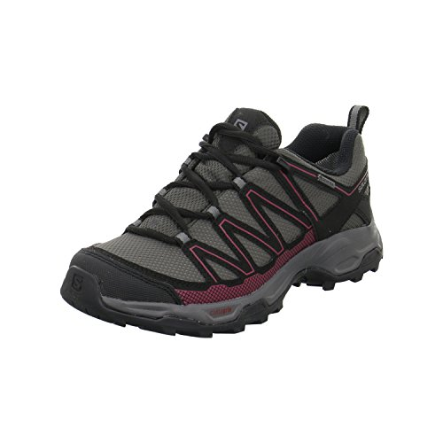 Salomon Damen Wanderschuhe 0 MAGNET/BLACK/TIBETAN RED