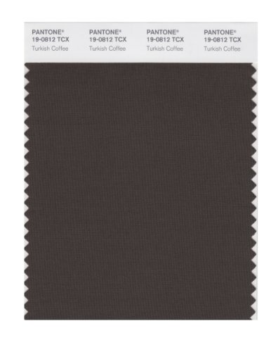 PANTONE Stylish 19-0812X Color Swatch Card, Turkish Coffee