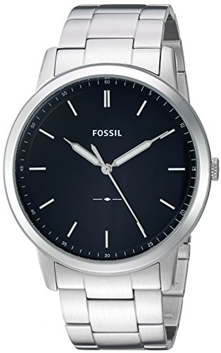 Fossil Men's The Minimalist Quartz Stainless Steel Dress Watch, Color: Silver-Tone (Model: FS5307) (Fossil Watch Color)