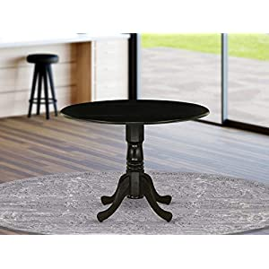 East West Furniture DLT-ANA-TP Dublin Table-Wood Texture Table Top Surface and Wood Texture Finish Pedestal Legs Hardwood Frame Dining Table