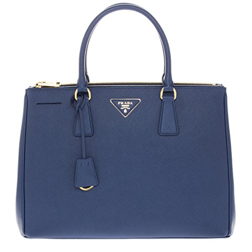 Prada-Womens-Double-Zip-Galleria-Bag-Blue