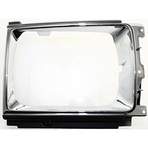 Pickup 4wd 1988 Toyota (DAT 86-89 TOYOTA 4RUNNER 4WD CHROME HEAD LAMP DOOR GRILLE GRILL RIGHT PASSENGER SIDE TO2513109)