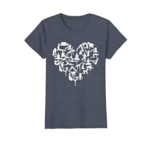 Womens Love Yoga T-Shirt Medium Heather Blue