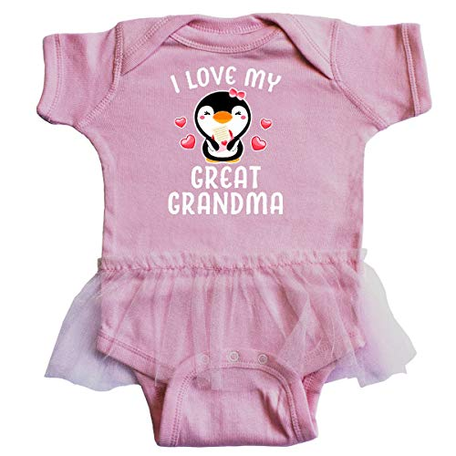 inktastic - I Love My Great Grandma with Infant Tutu Bodysuit Newborn Pink 34300 ()