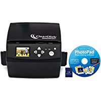 ClearClick 20 MP QuickConvert Photo, Slide, and 35mm Negatives To Digital Converter with PhotoPad Software & 8 GB Memory Card