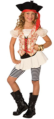 Buyseasons Girls Swashbuckler Child Costume White 4-6 Sm ()