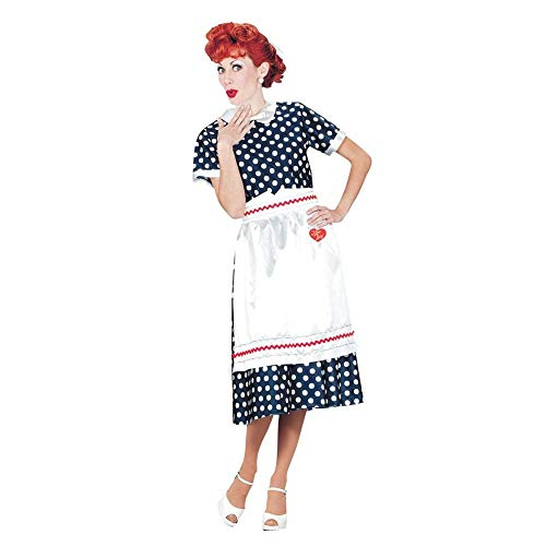 Fun World Women's Classic Polka Dot Dress Adult Costume, Multi, Small -