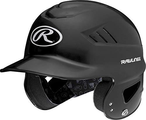 Rawlings Coolflo NOCSAE Molded Batting Helmet, Black, One Size